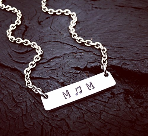 - Band Mom Bar Necklace | Band Mom Jewelry | Marching Band Mom Necklace | Jewelry Gift For Marching Band Mom |Jewelry Gift For Drumline Mom