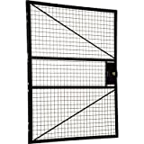 Vestil APG-DR-54 Adjustable Perimeter Guard Hinged Door, 50'' x 60'', Black