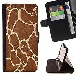 For Huawei Ascend P8 Lite (Not for Normal P8) Case , Modelo de la jirafa- la tarjeta de Crédito Slots PU Funda de cuero Monedero caso cubierta de piel