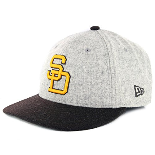 (New Era San Diego Padres 9FIFTY MLB Cooperstown Melton Wool Snapback Hat)