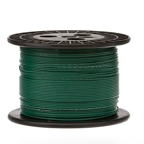 Remington Industries 22UL1007STRGRE1000 22 AWG Gauge Stranded Hook Up Wire, 1000 feet Length, Green, 0.0253'' Diameter, UL1007, 300 Volts