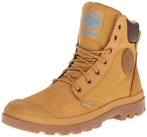 Palladium Men's Pampa Sport Cuff Wpn Combat Boot, Amber Gold