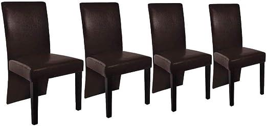 vidaXL Esszimmerstühle 4 Stk. Dunkelbraun