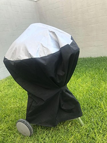 - Comp Bind Technology Grill Cover for Weber Ranch Kettle CharCoal Grill 37''. Custom Fitting Outdoor Marine Black Waterproof Cover, Dimensions 37.7''W x 44.7''D x 42.5''H