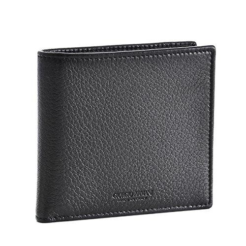 Giorgio Armani(ジョルジオアルマーニ) 財布 メンズ DEER LEATHER 2つ折り財布 ブラック Y2R122-YDH4J-80001 [並行輸入品] B07996Z861