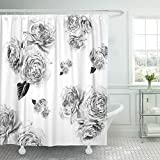 Pink and Burgundy Shower Curtain Emvency 72