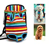 Budd Pet Carrier Backpack Legs Out Front Dog Carrier Hands-Free Adjustable Puppy Cat Tote Holder Travel Bag Pet Portable Chest Shoulder Bags(Multicoloured,XL) Review