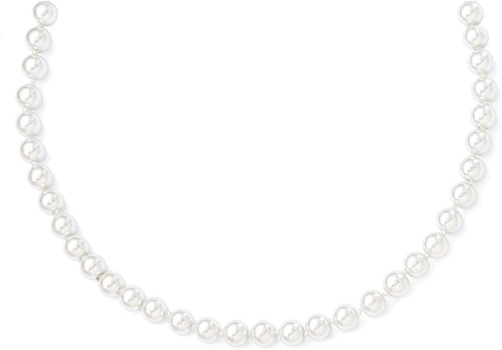 8mm 52in White Simulated Pearl Cord Necklace