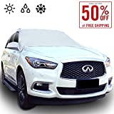 Automotive : Chanvi Windshield Cover Snow Ice Frost Rain Resistant, Waterproof Windproof Dustproof Outdoor Car Covers-2 Color (silver)