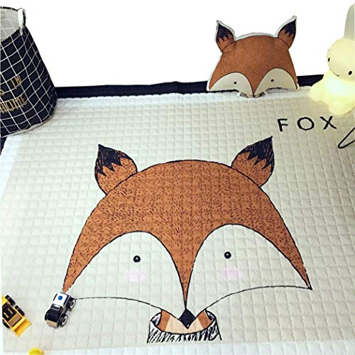 IHEARTYOU Baby Crawling Mat Cute Fox Play Carpet Children Bedroom Decor Living Room Rugs