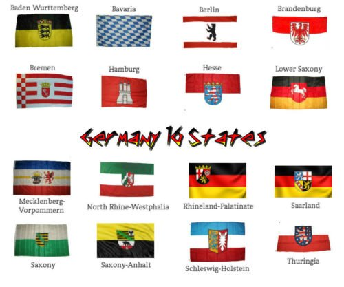 german 16 states germany flags