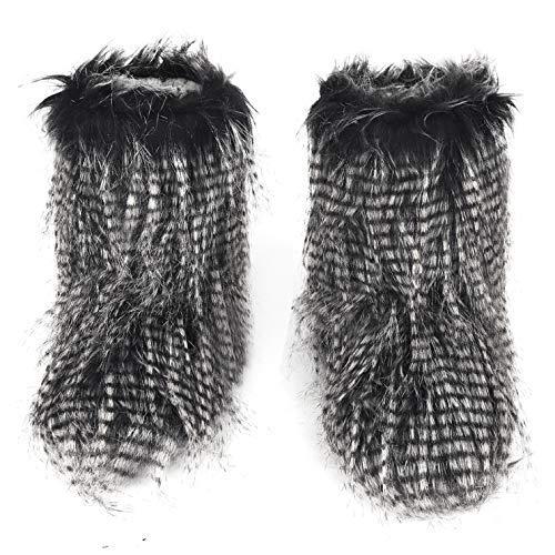 Tessuto Poms nero Ruixia Con 1 Pantofole Le Donna Signore Maglia Morbido Casa Peluche Effetto Pantofola A Per Antiscivolo Pom Stivaletto Da nvrYqvRwx8