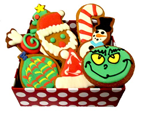 Cheap Christmas Dog Treats Gift Box with Grain Free Organic Decorated Cookies