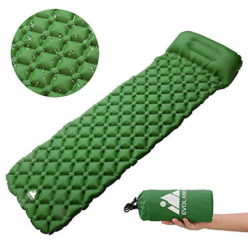 Evoland Esterillas auto-inflables Camping Colchoneta Hinchable Dormir de Acampada: Amazon.es: Deportes y aire libre