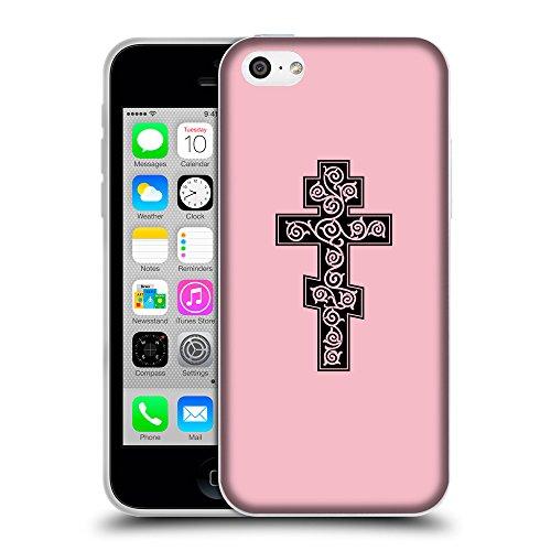 GoGoMobile Coque de Protection TPU Silicone Case pour // Q07910630 Christian Cross 16 Rose // Apple iPhone 5C