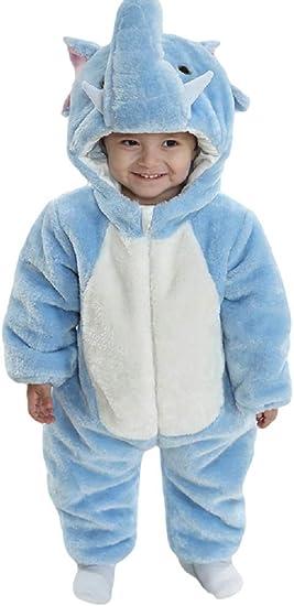 Disfraz de elefante azul de felpa aterciopelada, traje completo ...