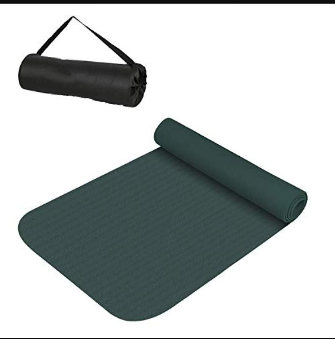 SBZ - SHOPBOOZ Yoga Mat Anti Skid Yogamat for Gym Workout and Flooring Exercise - Long Size Yoga Mat with Strap for Men Women - Yoga Mat