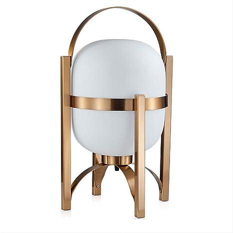 Lámpara de mesa de vidrio portátil nórdica Luminaria de escritorio ...