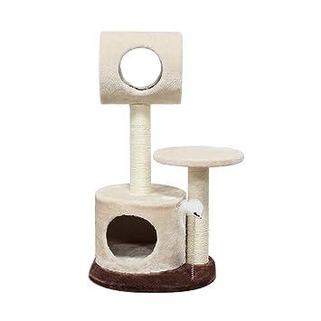 Gato Lujo Marco Escalada Árboles para Gatos Gato árbol Plataforma de Salto Fluff Sisal Plaza Base múltiples Estilos Resistente a la Captura Espesar Tingting ...