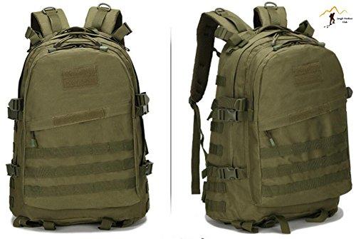 Jungle 36–�?5L laptop zaino da 3D attacco zaino militare escursioni campeggio arrampicata Recreation ciclismo tattico zaino, verde militare
