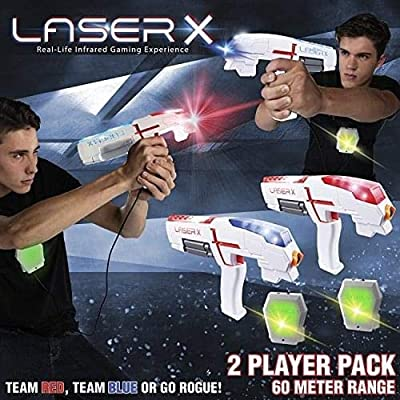 Laser X | 2-Player Laser Tag | Real-Life Laser Gaming Experience: Sports & Outdoors