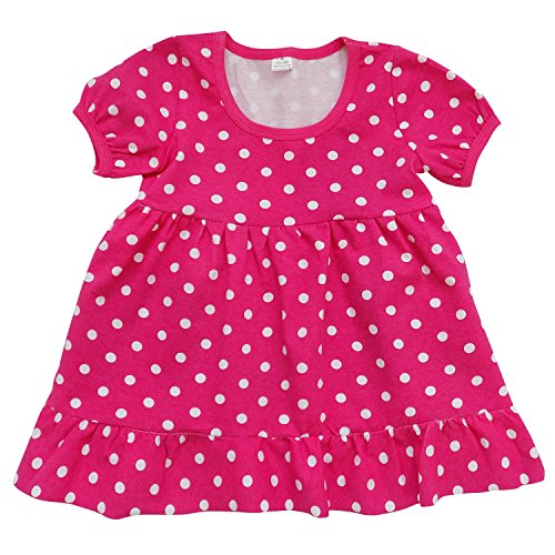 Price comparison product image So Sydney Toddler & Girls Valentine Stretch Cotton Short Sleeve Boutique Dress (110 (XS 4T/5T), Hot Pink Polka Dot)