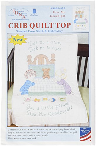 - Jack Dempsey 4060-897 Stamped Quilt Crib Top, 40