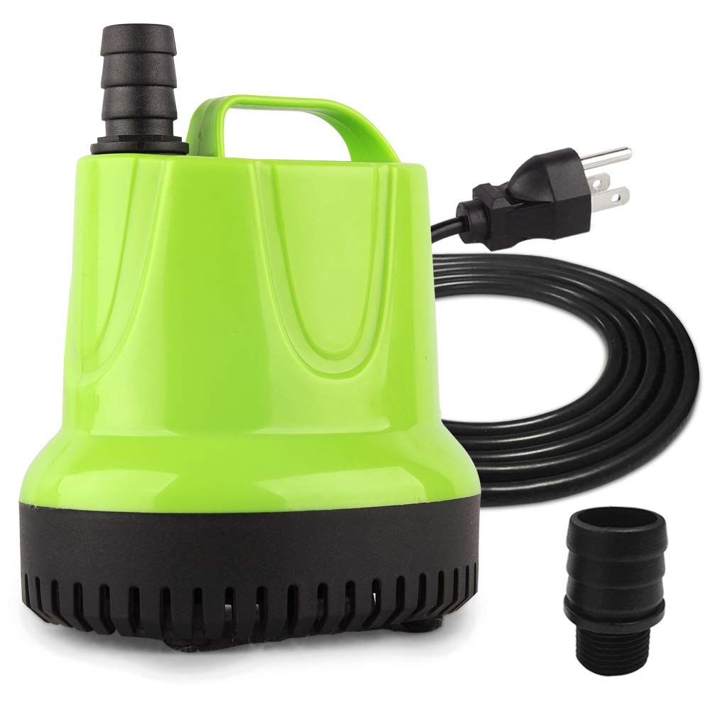 FREESEA 925GPH Submersible Pump for Aquarium Fish Tank, Hydroponics, Pond, Fountain, Small Pool