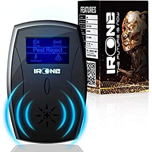IRONE Ultrasonic Pest Repeller Plug in - 2020 New - Outdoor/Indoor Electronic Pest Repellent - Get Rid of Rat Mouse Squirrel Bug Bee Cockroach Fly Spider Mosquito-Safe for Pet Patio, Lawn and Garden
