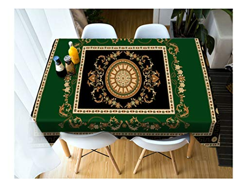 Fashion Flower Stripe Ethnic Style Pattern Tablecloth Washable Cotton Cloth Thicken Rectangular and Round Wedding Table Cloth,F,80 X 80Cm ()
