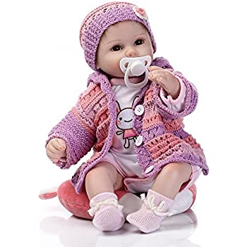 Amazon.com: Funny House 22 Inch 55cm Lifelike Reborn Dolls Soft ...