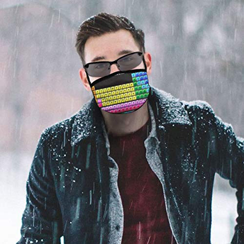 Dust Mask Colorful Periodic Elements Fashion Anti-dust Reusable Cotton Comfy Breathable Safety Mouth Masks Half Face Mask for Women Man Running Cycling Outdoor
