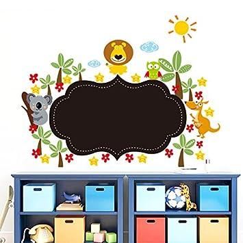 FangKuai FKAL0668 Dschungel Wildes Tier Tafel Aufkleber Kinderzimmer ...