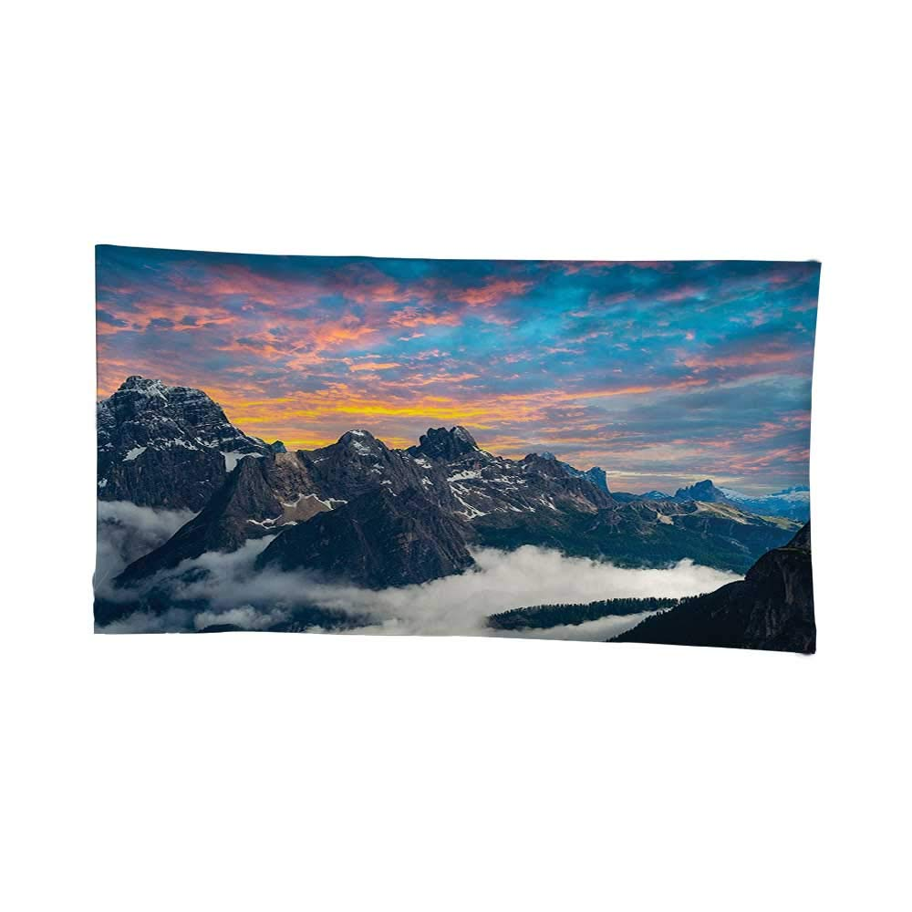 Alpine Mountain Foggy Evening Wall Hanging Tapestry for Bedroom Living Room Dorm