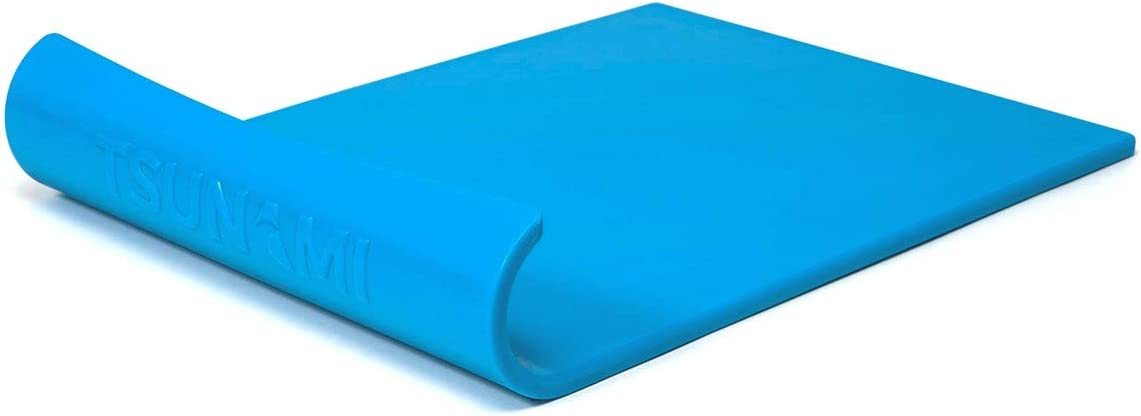 Tsunami Cutting Board   Unique Wave Designed to Make Prepping Safer, Easier and FASTER   Durable, Non-Slip Cutting Board for Food Prep   BPA-Free, Non-Porus, Dishwasher Safe (Blue)