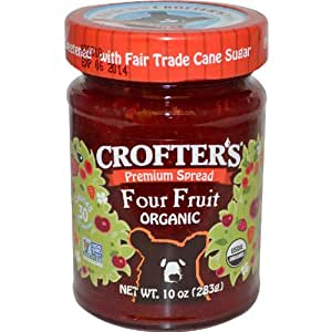 Crofters Organic Fruit Spread Four Fruit -- 10 oz