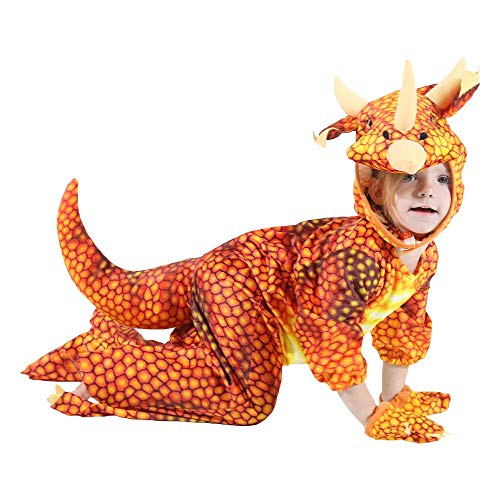 BIGPETS Baby's Triceratops Toddler Silly Safari Costume (4-6T(39