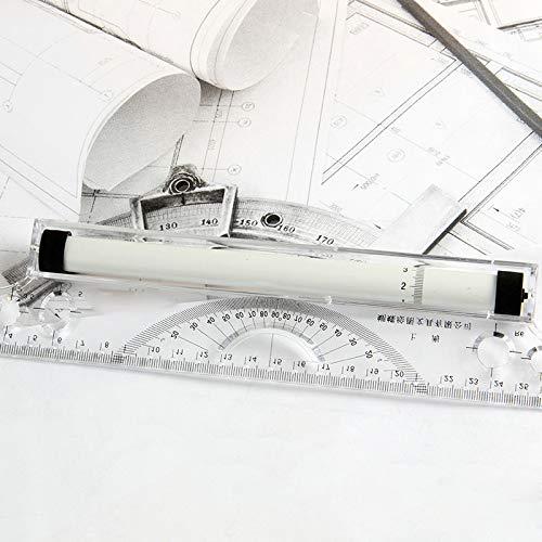 Domeilleur rotolamento righello parallelo 30/cm goniometro disegno tecnico professionale design esame