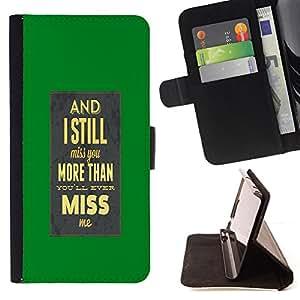 - I Miss Yo/ Personalizada del estilo del dise???¡¯???¡Ào de la PU Caso de encargo del cuero del tir???¡¯????n del s - Cao - For Samsung Galaxy S5 Mini, S