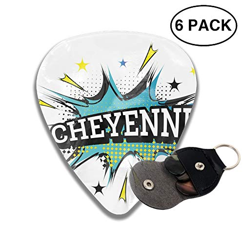 Guitar Picks 2-side Cheyenne Comic Printed, 6pcs ()