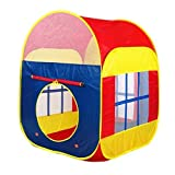 Babrit Play Tent for Girls and Boys Six Sided Play House 2 Doors and 2 Mesh Windows Play Game House