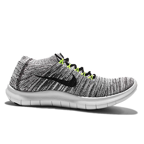 Nike W Free Rn Motion Flyknit, Zapatillas de Running Para Mujer Blanco (White / Black-Volt-Off White)