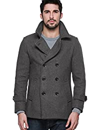 Match Mens Wool Classic Pea Coat Winter Coat