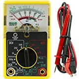 Power Gear Multimeter, Analog 14 Range 6-Function Non-Recording, Yellow 50952
