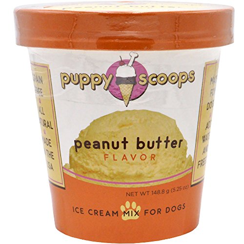 Puppy Scoops Ice Cream Mix for Dogs: Peanut Butter - Add Water and Freeze at Home (Dogs Cream Ice)