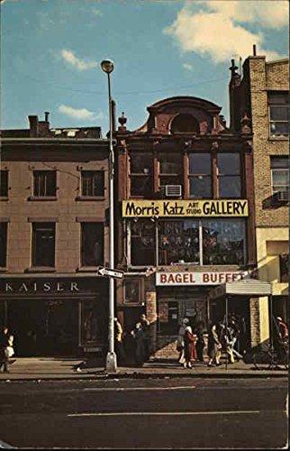 Morris Katz Art Studio and Kaiser Fine Clothing New York, New York Original Vintage Postcard