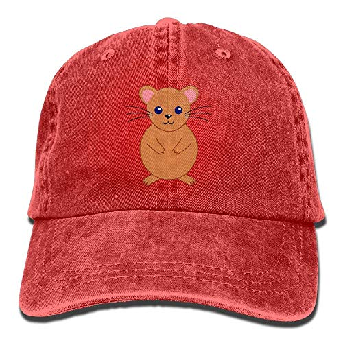 DEFFWB Hat Hamster Cute Denim Skull Cap Cowboy Cowgirl Sport Hats for Men Women