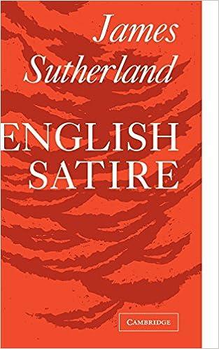 Amazon Com English Satire Clark Lectures 9780521091756 James