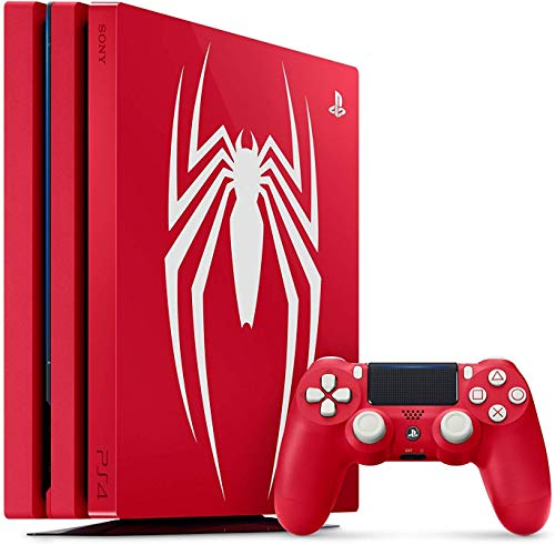 Playstation 4 Pro 1TB SSD Limited Edition Console – Marvels Spider-Man Bundle Enhanced with Fast Solid State Drive (Renewed)