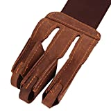 DierCosy Archery Protect Glove Pull Bow Arrow Leather Shooting Gloves 3 Fingers